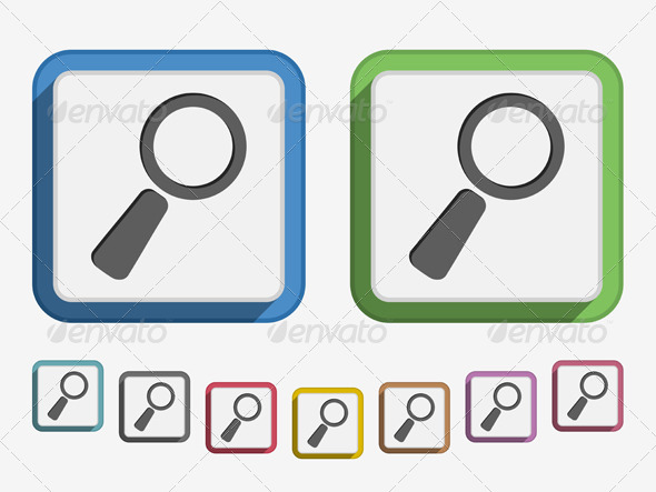 Magnifying Glass Icon - Web Elements Vectors