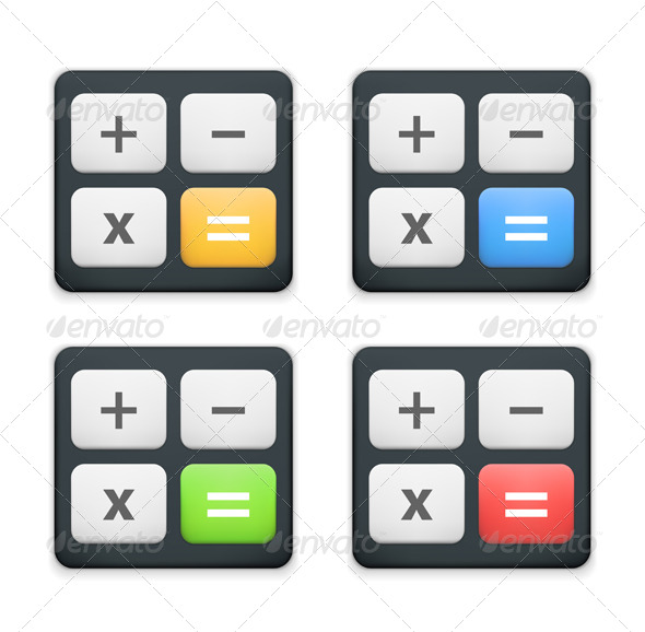 Calculator Icon - Objects Vectors