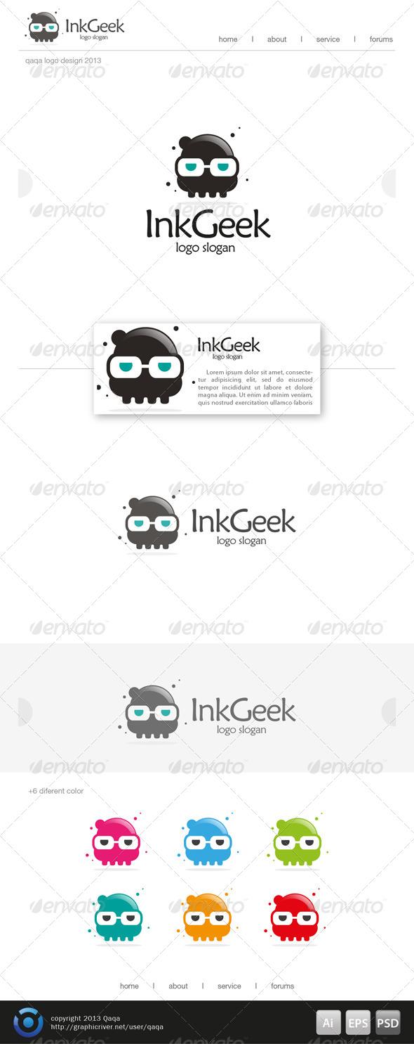 Ink Geek Logo - Objects Logo Templates