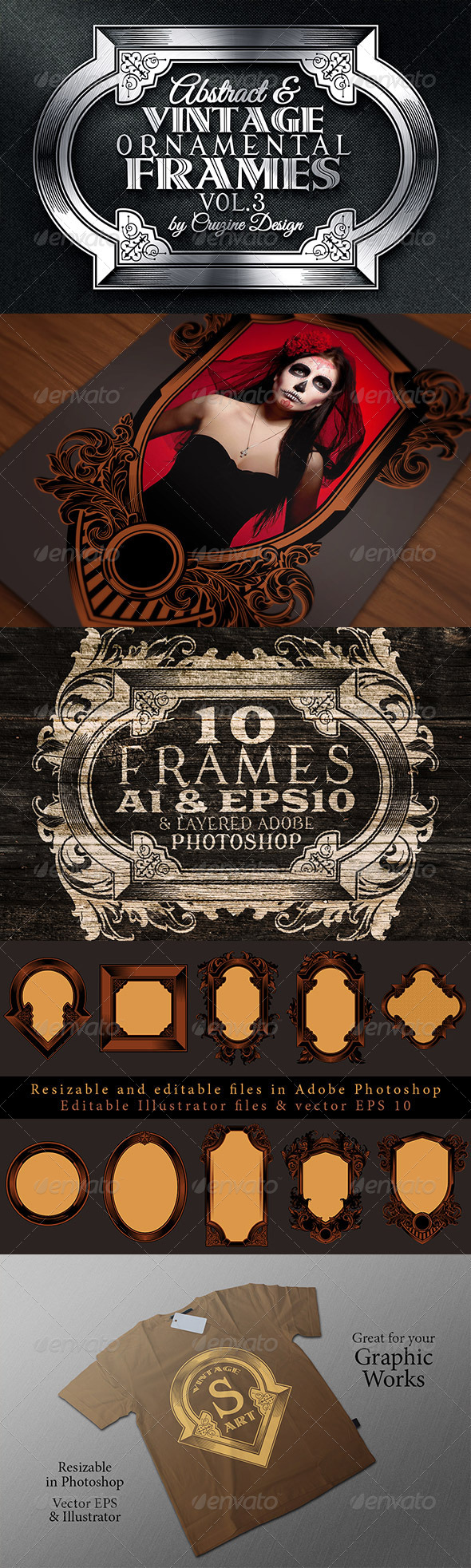 10 Frames Vol.3 - Vintage Ornament - Borders Decorative