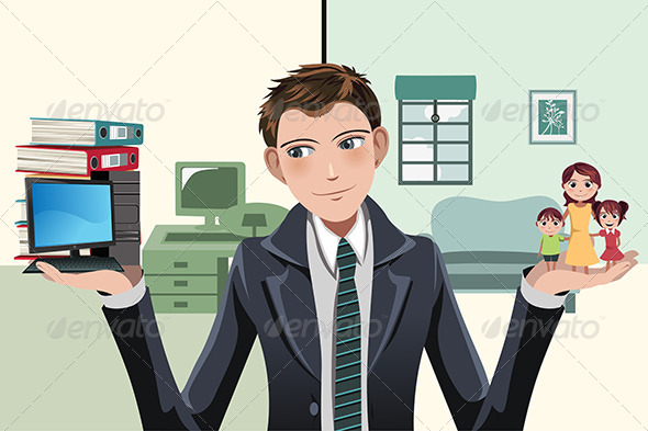Busy Businesswoman - Business Conceptual