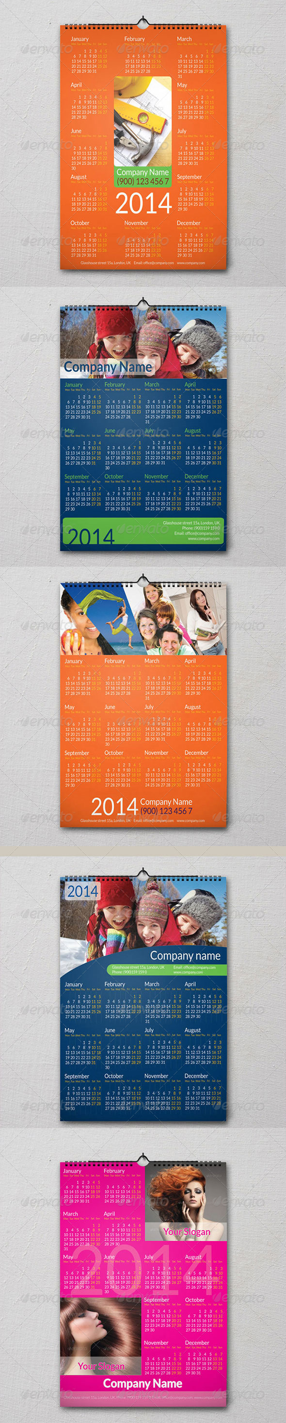 5 Calendars - Calendars Stationery