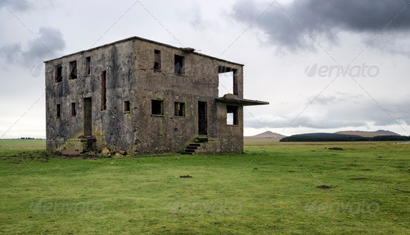 Abandoned Control Tower - Stock Photo - Images