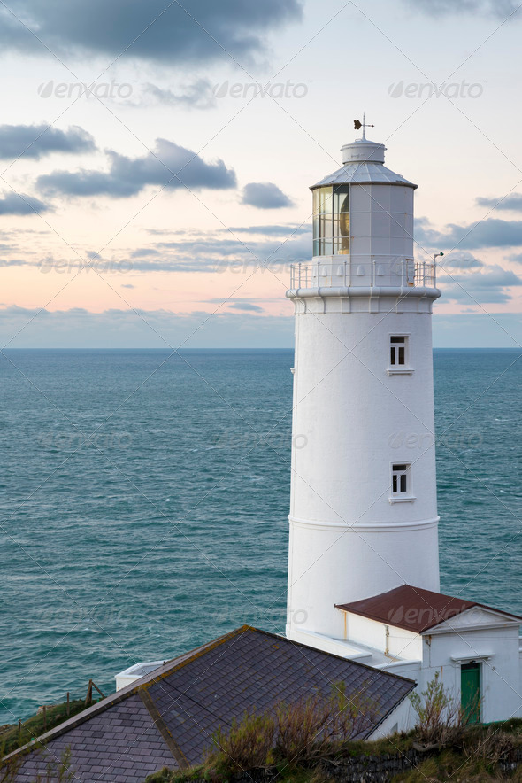 Trevose Head Lighthouse - Stock Photo - Images