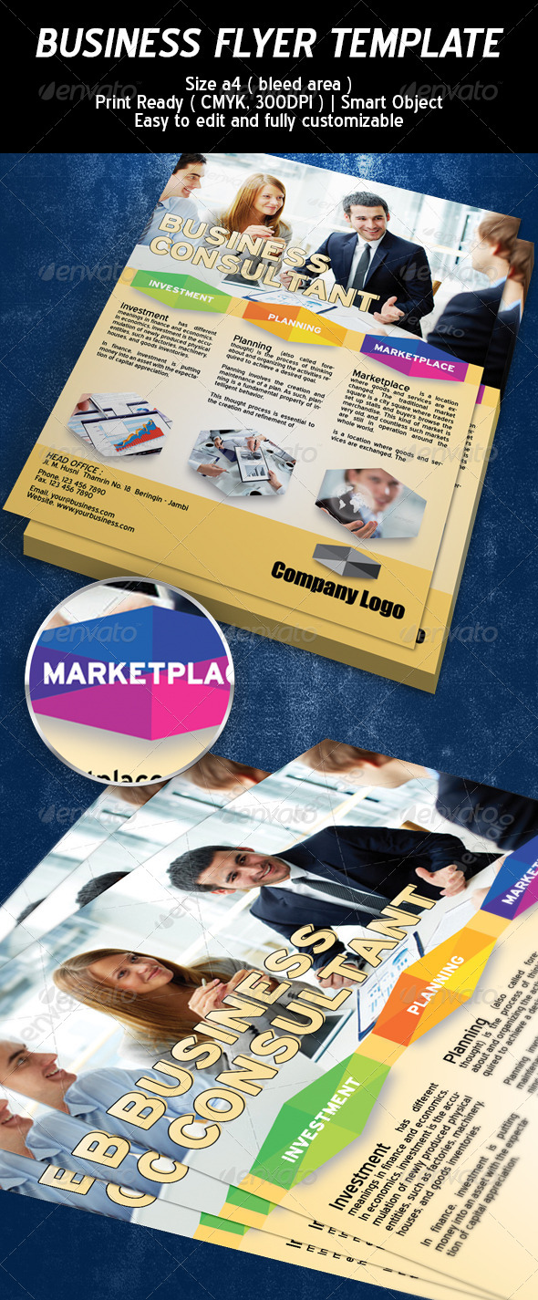 Business Consultant Flyer Template - Corporate Flyers