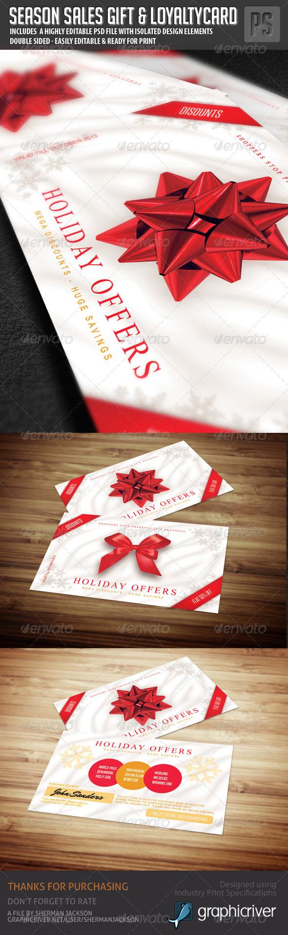 Season Sales Gift Card / Loyalty Card - Loyalty Cards Cards & Invites