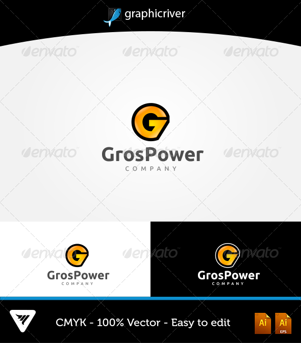 GrosPower Logo - Logo Templates