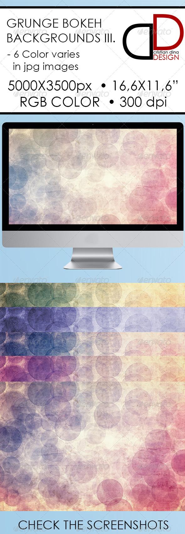 Abstract Grunge Bokeh Backgrounds III - Backgrounds Graphics