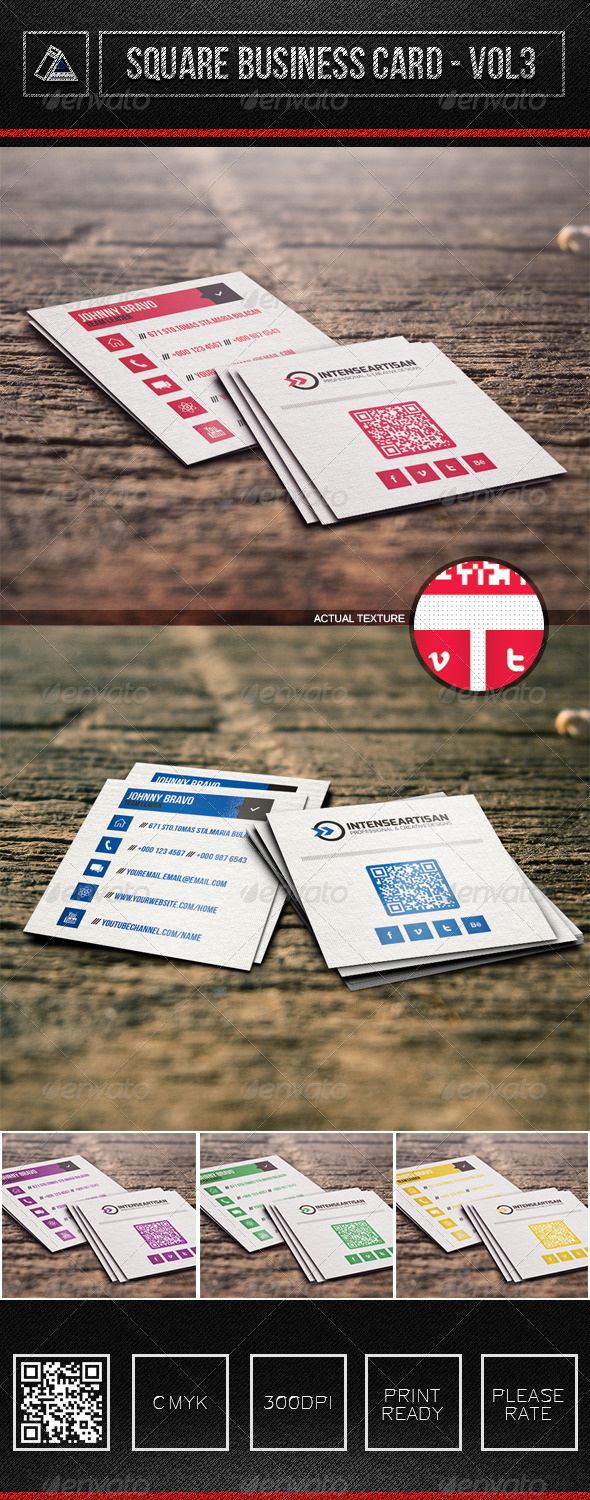 Square Business Card Vol3 - Corporate Business Cards