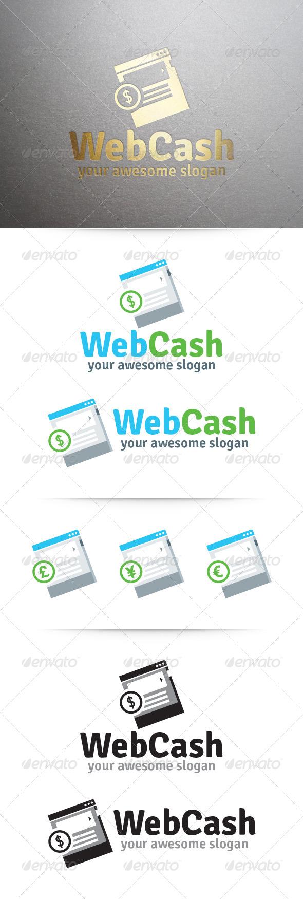 Web Cash Logo - Symbols Logo Templates