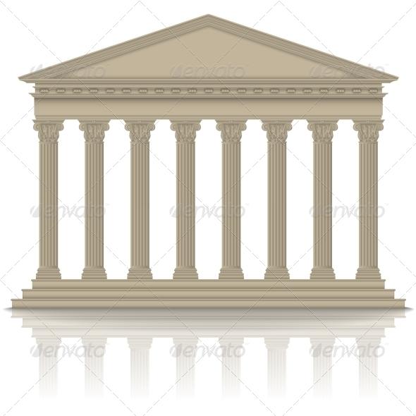 Roman/Greek Pantheon - Buildings Objects