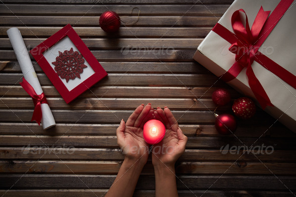 Christmas atmosphere - Stock Photo - Images