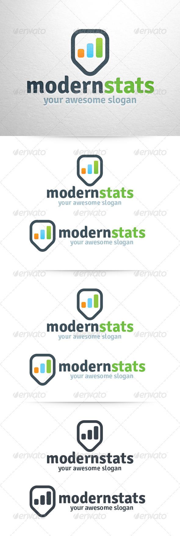 Modern Stats Logo - Logo Templates