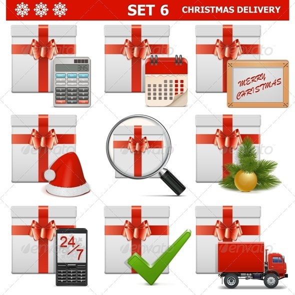Vector Christmas Delivery Set 6 - Christmas Seasons/Holidays