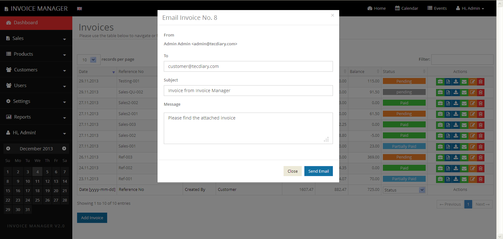 simple invoice manager - invoicing made easy by tecdiary | codecanyon, Simple invoice