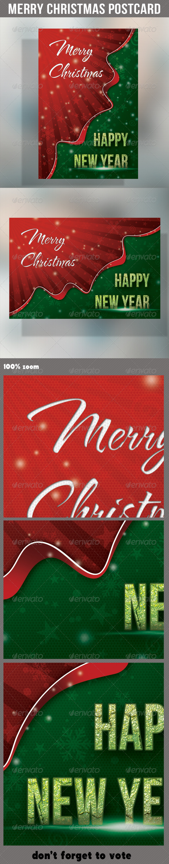 Merry Christmas Holidays Postcard - Holiday Greeting Cards