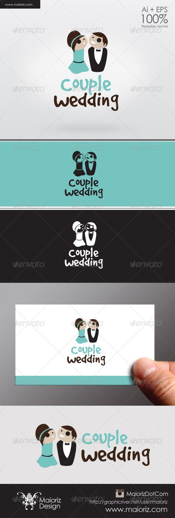 Couple Wedding Logo - Humans Logo Templates