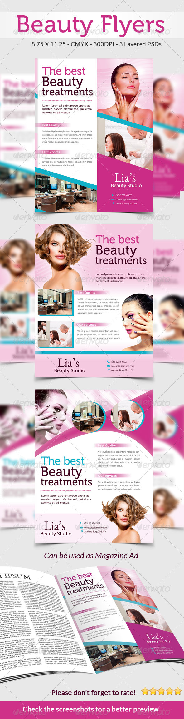 Beauty & Spa Flyers Pack - Commerce Flyers