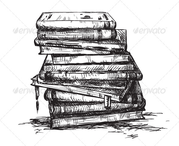 A Pile of Books - Objects Vectors