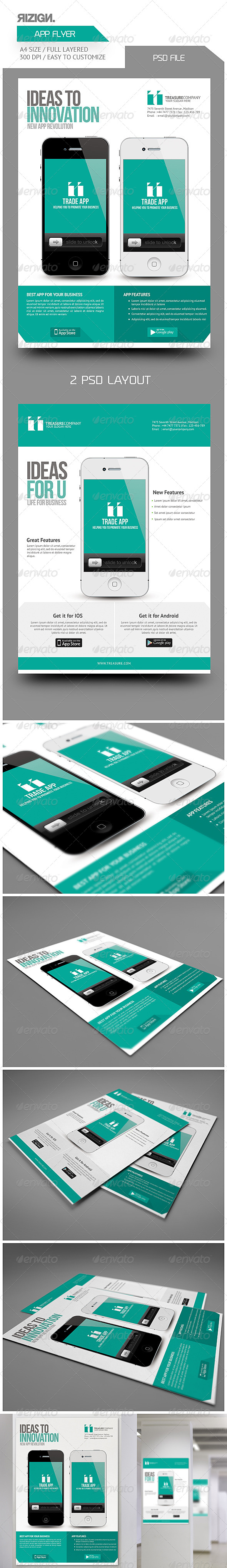 Mobile App Promotion Flyers - Corporate Flyers