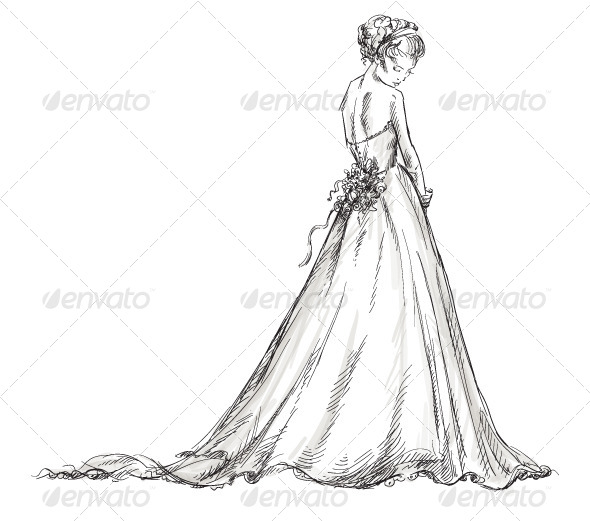 Bride. Girl in a Wedding Dress - Weddings Seasons/Holidays
