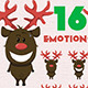 Emotions Christmas Reindeer with a Red Nose - GraphicRiver Item for Sale