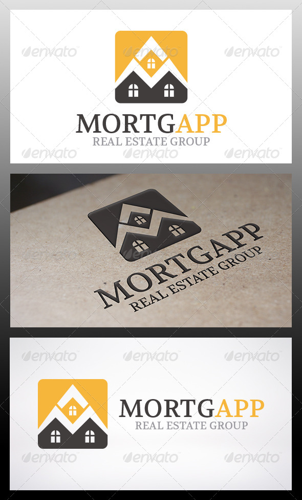 Mortgage App Logo - Buildings Logo Templates