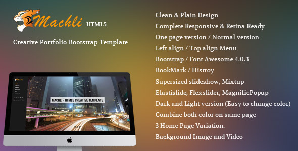 Machli – Simple Plain Creative Bootstrap Template