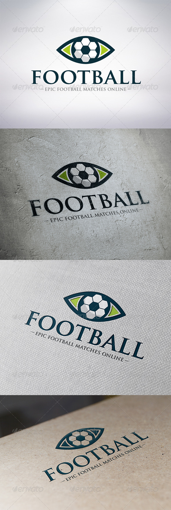 Watch Football Logo Template - Objects Logo Templates