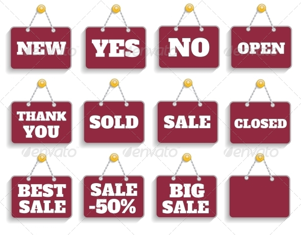 Shopping Sign Board Set - Retail Commercial / Shopping