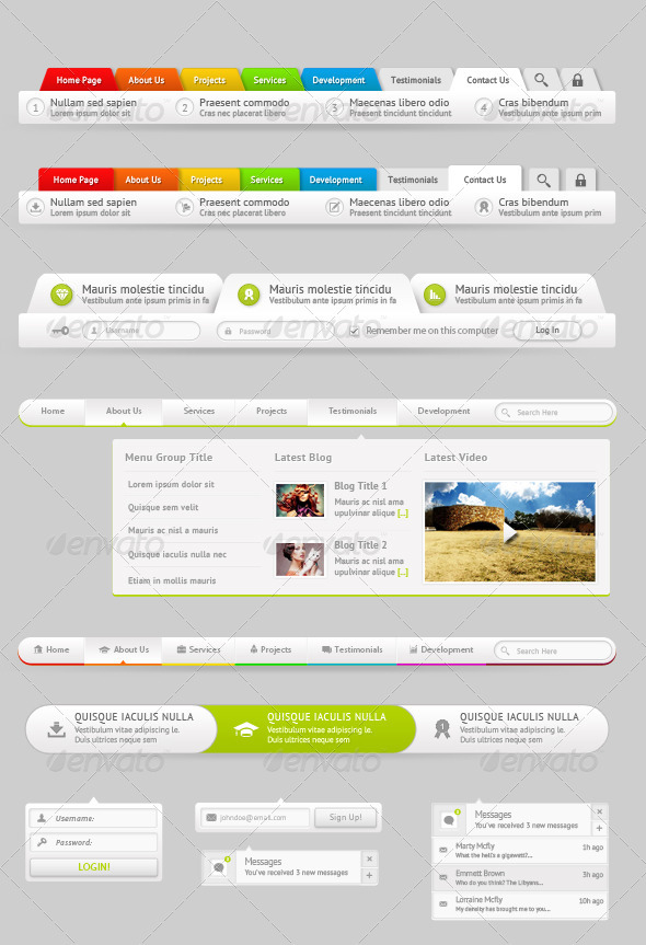 6 Modern Navigation Menu Dropdown Style - Navigation Bars Web Elements