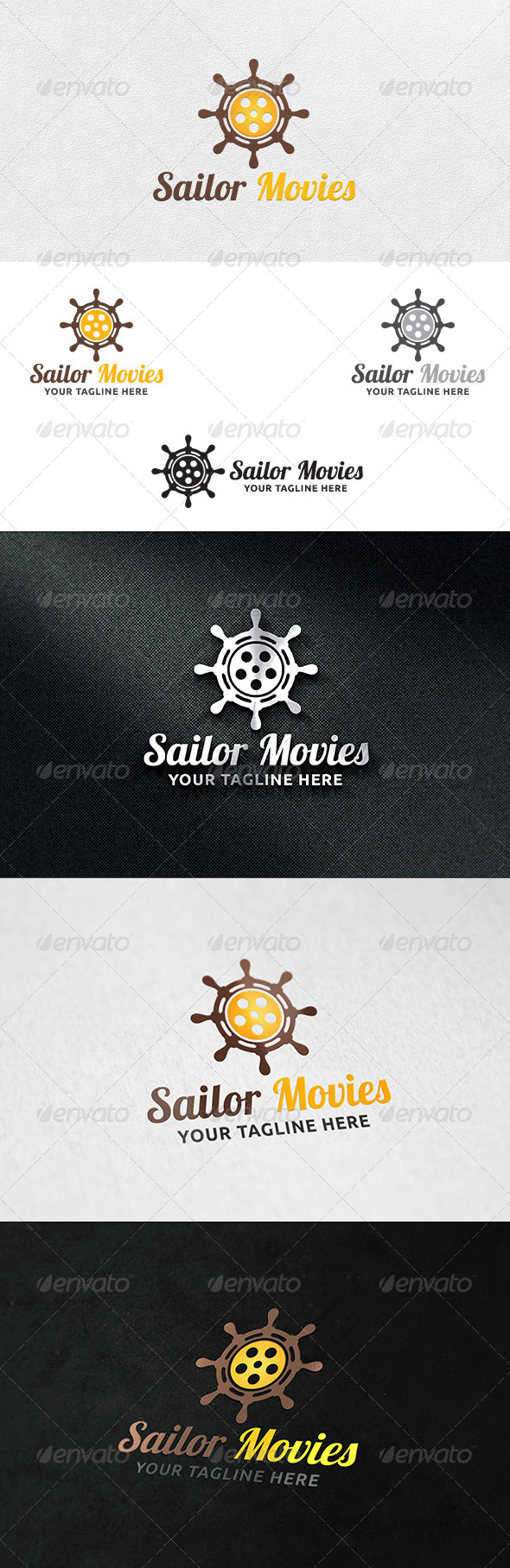 Helm Movies - Logo Template - Symbols Logo Templates