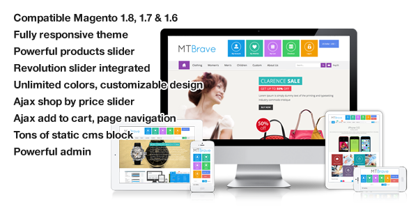 Brave - MultiPurpose Flat Responsive Magento Theme - Magento eCommerce