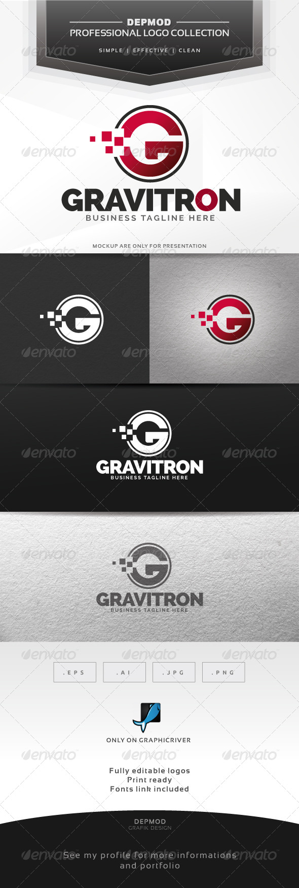 Gravitron Logo - Letters Logo Templates