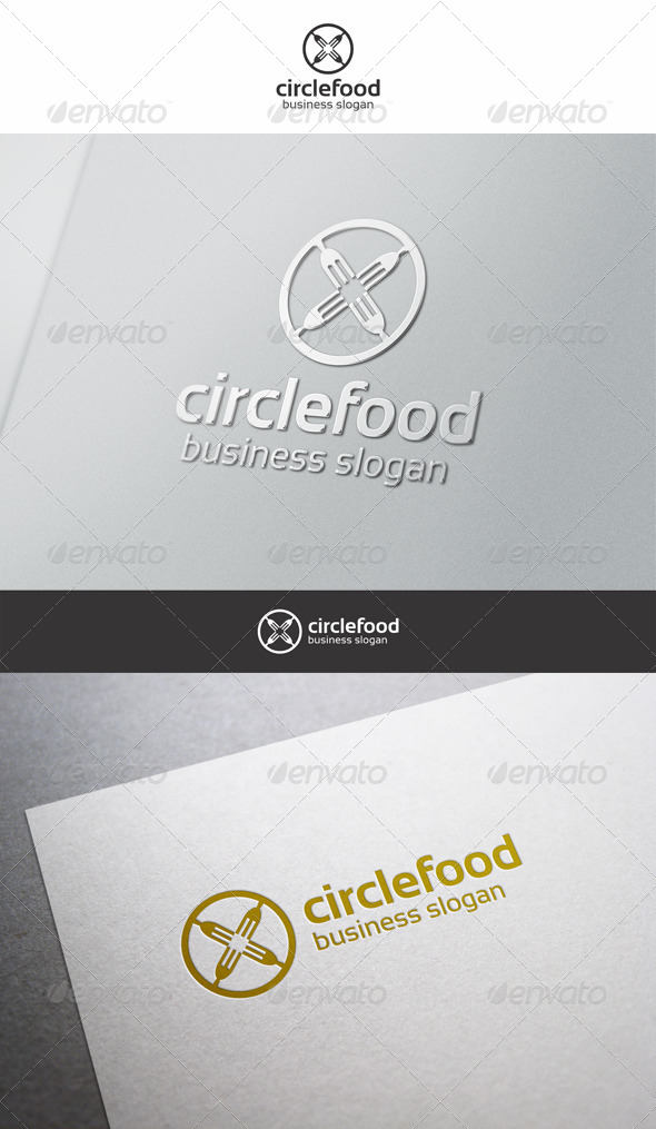 Circle Food Logo - Food Logo Templates