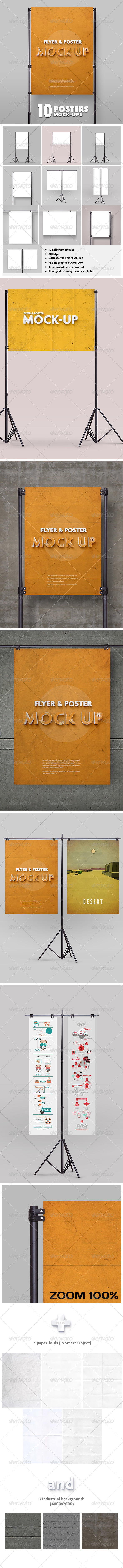 Poster Mockup vol.2 / 10 Different Images - Posters Print