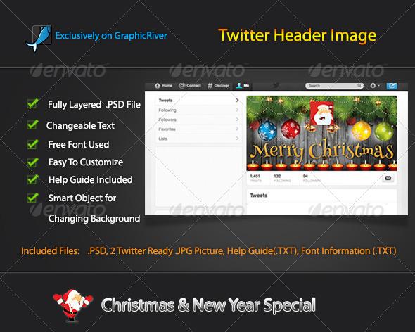 Christmas Twitter Header Image - Twitter Social Media