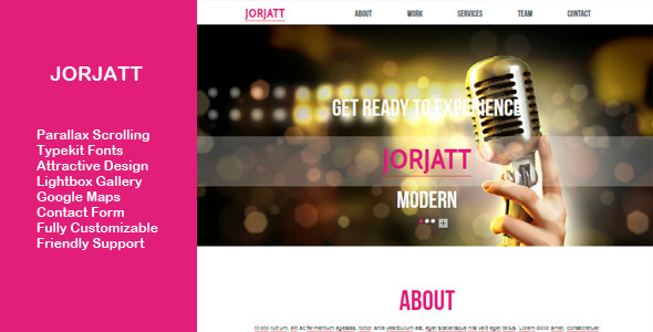 Jorjatt – Multi-purpose One Page Muse Template