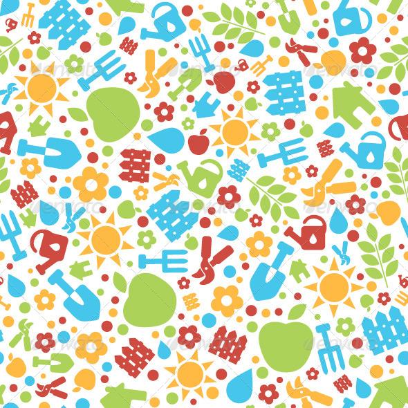 Garden Vector Pattern - Patterns Decorative