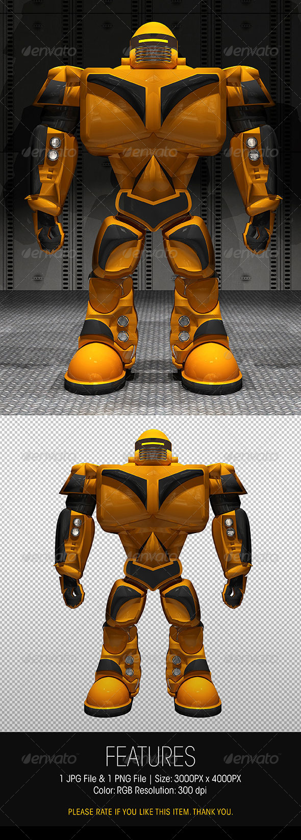 3D Fighting Robot Stand Up Pose - Characters 3D Renders
