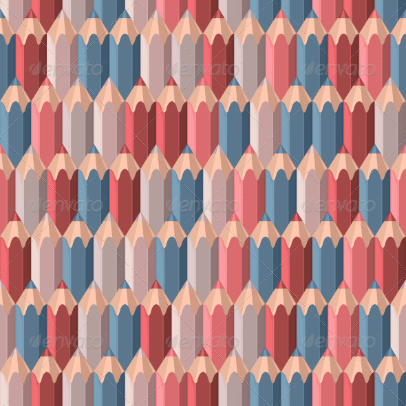 Background with Colored Pencils - Patterns Decorative