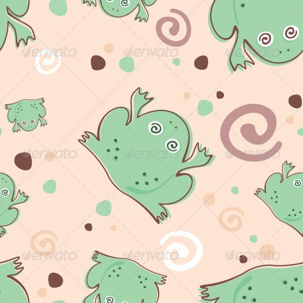 Frogs Pattern - Patterns Decorative