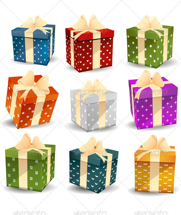 Colorful Gifts - Birthdays Seasons/Holidays