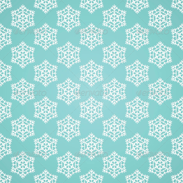 Blue Seamless Snowflake Pattern - Patterns Decorative
