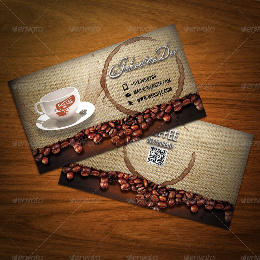 Cafe business cards ideas best business cards coffee business card template free gallery templates example wajeb