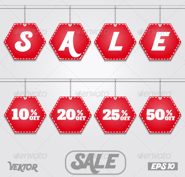 Discount Text Sale with Numbers - Retail Commercial / Shopping
