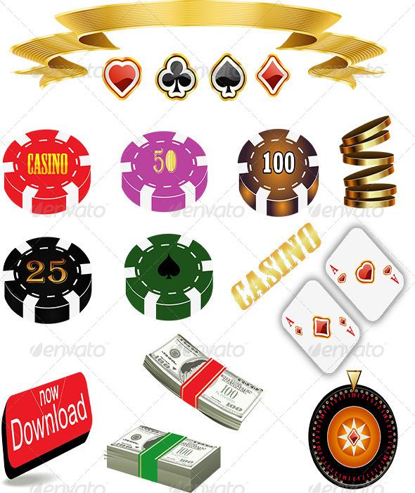 Casino Icon Set  - Miscellaneous Vectors