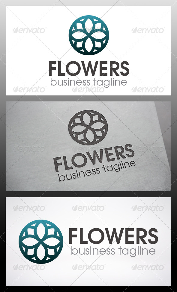 Flowers Logo - Vector Abstract