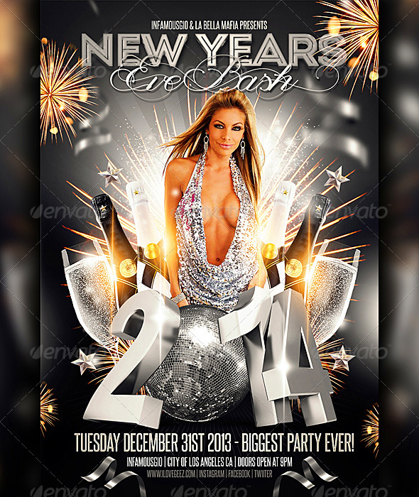 New Years Eve Bash - Flyers Print Templates