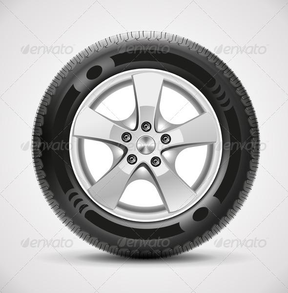 Car Tire Vector - Objects Vectors
